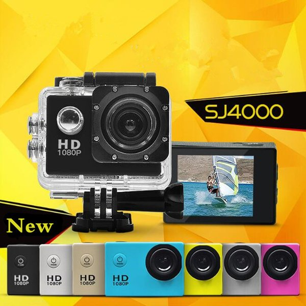 SJ4000 A7 Sports Cam Waterproof DV Action Camera HD 1080P Helmet Sports DV Video Car Cam Underwater 30M Camera Camcorder for Diving Surfing