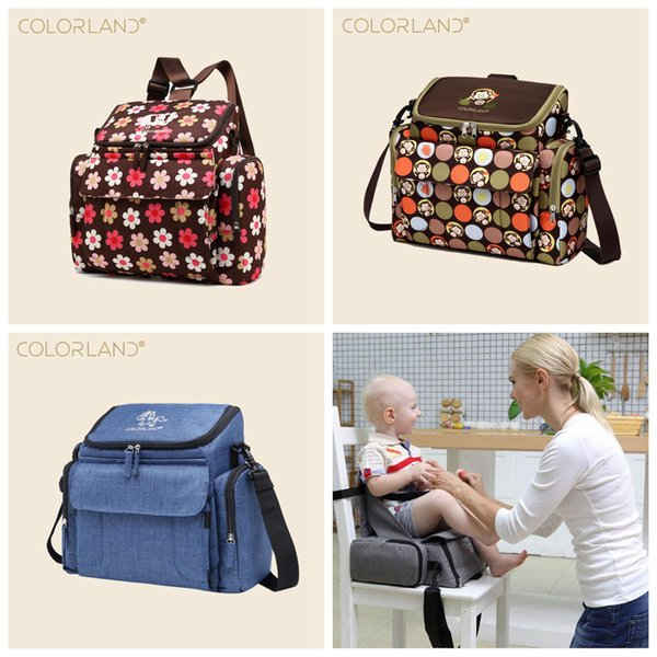 Baby Chair Diaper Bag Portable Nursing Bag Infant Booster Seat Fashion Mummy Maternity Nappy Bag Baby Care Stroller Backpacks OOA5930