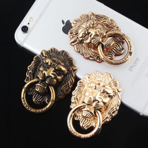 Universal Retro Lion Style Fingerring Inhaber Handyhalter Ständer für iPhone 7 6 s Samsung Handy
