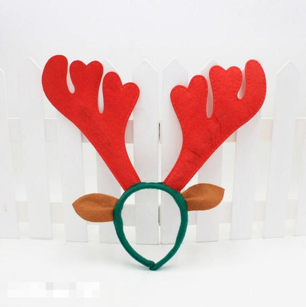New Deer Bell Large Antlers Christmas Head Hoop Buckle Christmas Decoration Xmas Party Holiday Gift LX3445