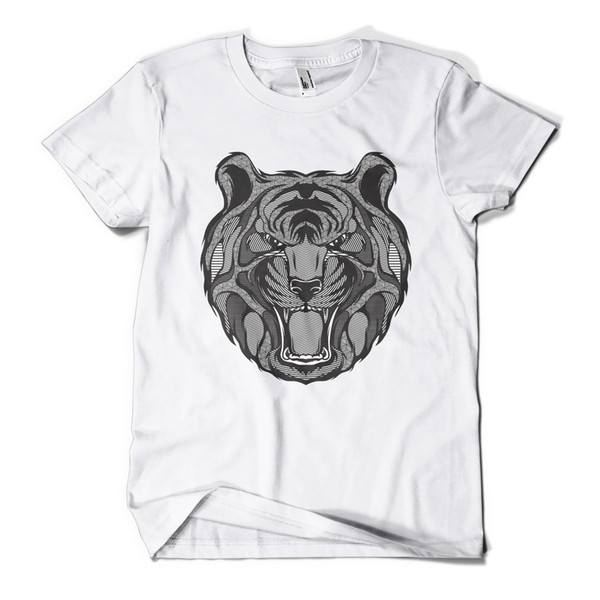 Graphic Tiger Printed T-Shirt Hipster Design Urban Fashion Mens Girls Tee Top Cool Casual pride t shirt men Unisex New Fashion tshirt