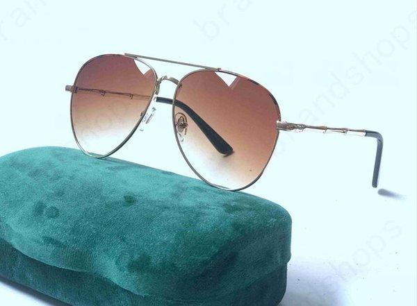 Altın Çerçeve-Kahverengi Lensler
