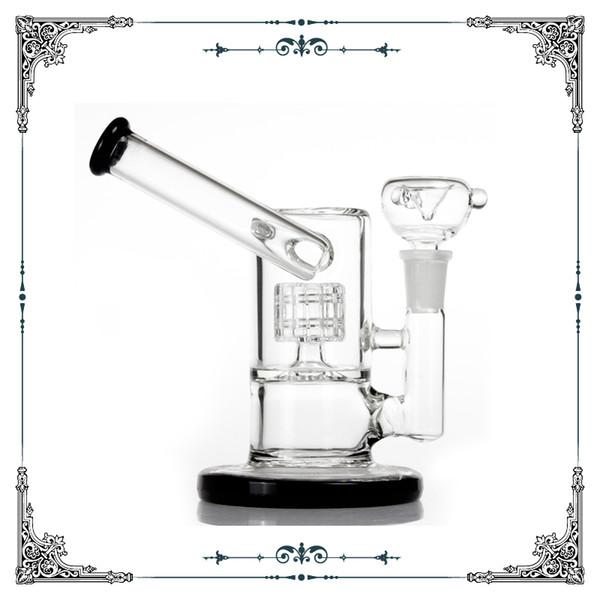 6 inch mini glass bubbler bongs matrix perc hookah glass smoking water pipe heady percolator glass waterpipes rocket bongs free shipping