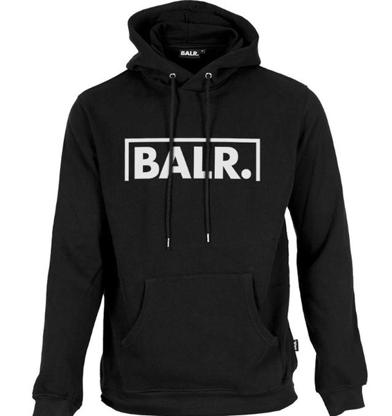 20197 Fleece BALR Casual Unisex Hoodies Sweatshirt Cool Hip Pop Pullover Mens&women Sportwear Coat Jogger Tracksuit Fashion