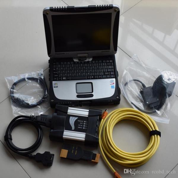 Per BMW ICOM Next con diagnosi del computer portatile + Rheingold ISTA ISID hdd 500 gb + Toughbook CF-19 Laptop (4G) con schermo a rotazione toccante