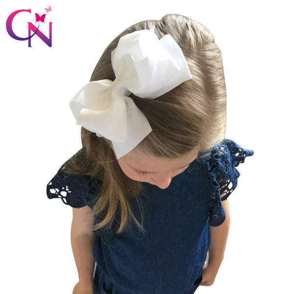 20 Pcs Lot 5 Girls Boutique Hair Accessories Fashion Solid Handmade Ribbon Hair Bow With Clip For Kids Headwear