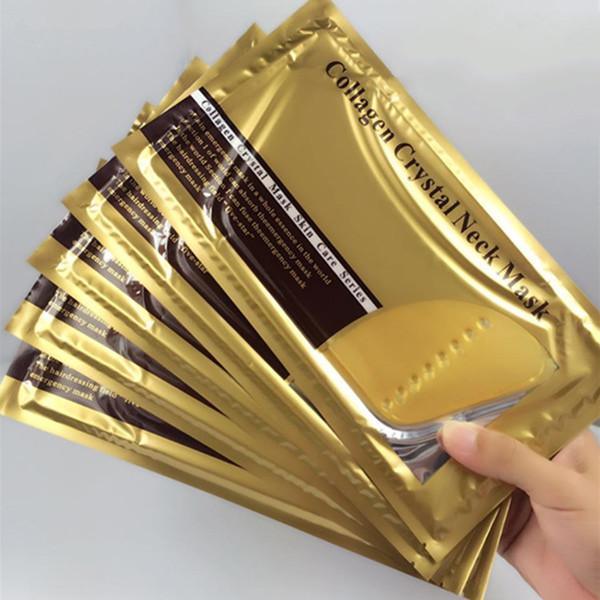 En Çok Satan Altın Bio-Kolajen Yüz Maskesi Yüz Kristal Altın Tozu Kollajen Yüz Maskesi boyun maskesi 300 adet