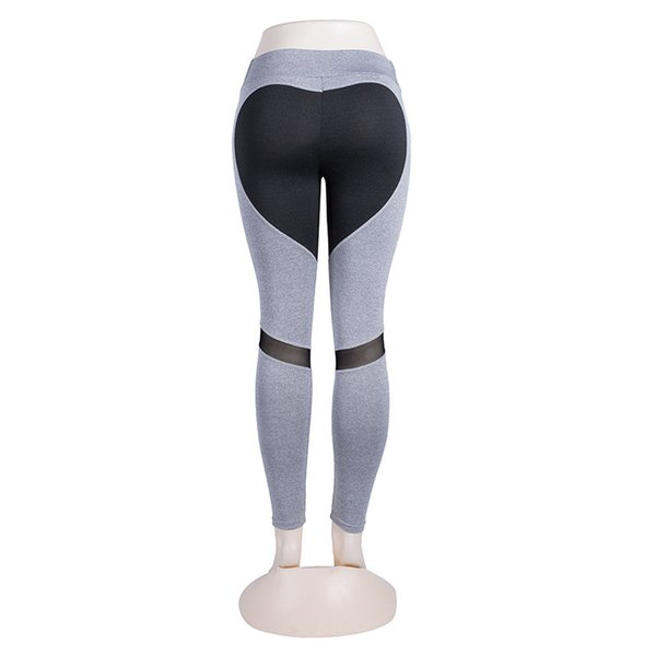 Lady Net Yarn Push Up Leggings Women Fashion Splicing Repair The Body Designer Sexy Heart Yoga Pants High Elasticity Sport Clothing 16lx Ww