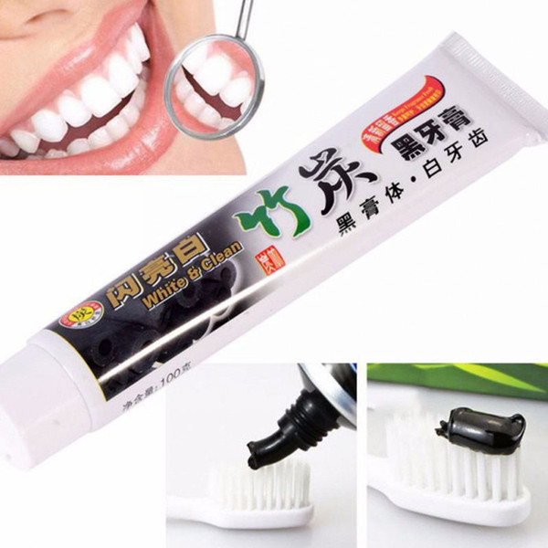 top popular Drop Shipping charcoal toothpaste whitening black tooth paste bamboo charcoal toothpaste oral hygiene tooth paste 2021