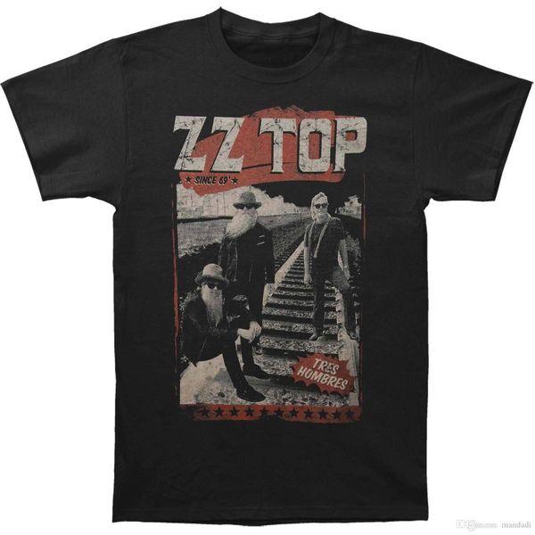ZZ Top homens ferrovia Slim Fit T-shirt X-Large Preto