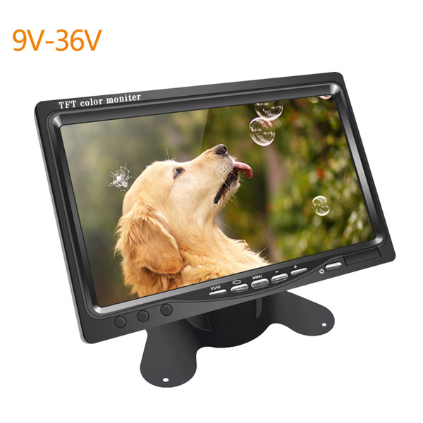 CAR DC 9V-36V 7 Inch Color TFT LCD Rear View Monitor Headrest Stand-alone Display For Auto DVD VCD Reversing Camera #2838