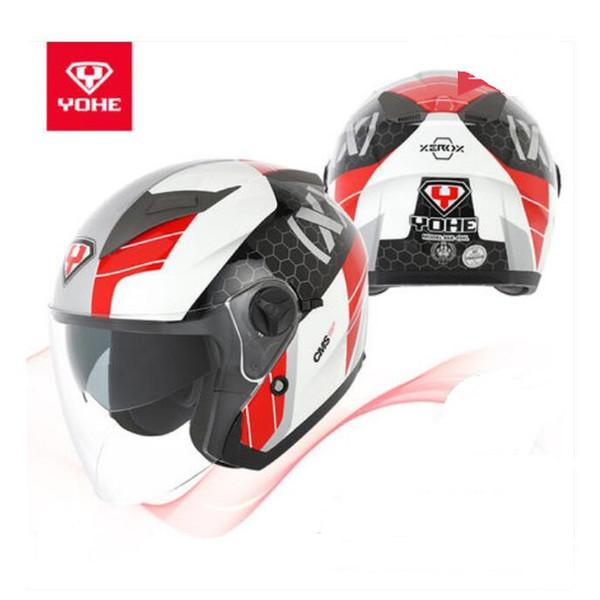 2018 Summer New YOHE Half Face Motorcycle Helmet YH-868 Double lens Motorbike Helmets made of ABS PC Lens Visor size M L XL XXL