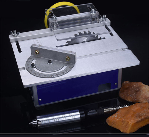 best selling Four Generations of Mini Table Saw Micro Small Table Saw Diy Woodworking Saws Small Cutting Polished Micro Table Saw
