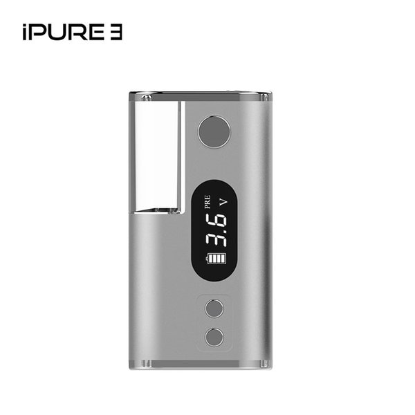 High quality 550mah ecig 2in1 iPURE 3 Variable Voltage 510 thread vape pen battery mod with Mirco USB charging port