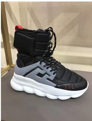 2018 autumn and winter new Medusa men's shoes thick bottom increased short tube Martin boots Korean high-top men's shoes189605