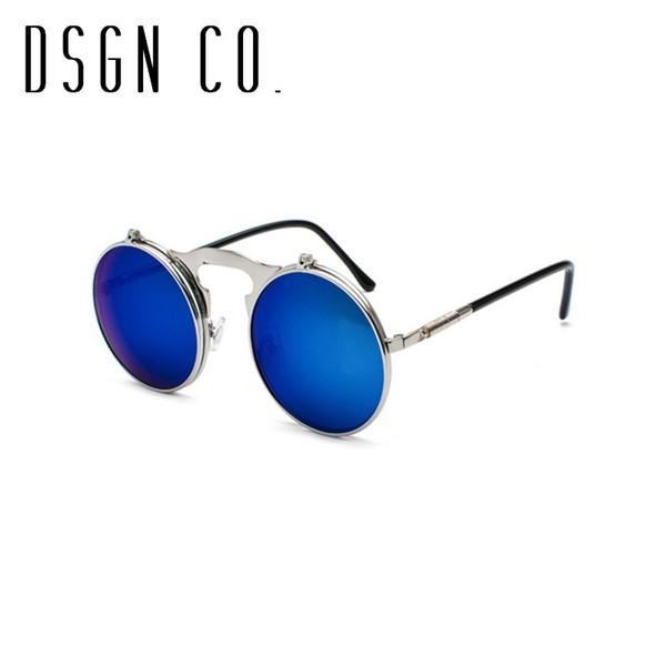Lunettes de soleil Silver Frame Dark Blue