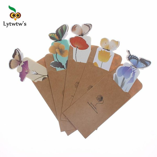 best selling 1 Piece classic Butterfly marcador de livro papelaria material escolar paper bookmarks for books markers holder school cute gift