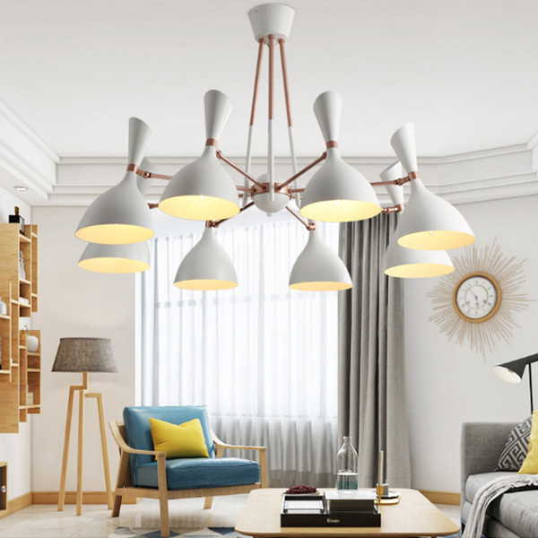 Post modern living room dining room bedroom led light fixtures creative personality pendant lights Villa Hotel lobby led pandent lamp