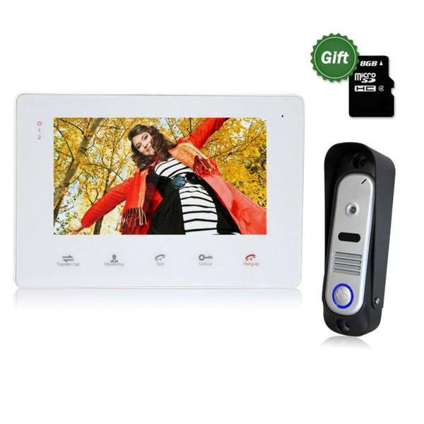 """Homefong 7"""" TFT Wired Video Intercom Doorbell Rainproof Door Phone Camera Chime for CCTV Home Security video door phone system"""