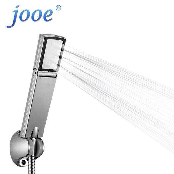jooe soffione doccia palmare ad alta pressione pieghevole interruttore a risparmio idrico pioggia spray ABS plastica accessori bagno quadrato je19