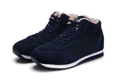 Botas de invierno de cuero de los hombres zapatos de invierno de los hombres más el tamaño de tenis zapatillas de deporte para los botines de invierno masculinos amantes calientes botas casuales a1123456