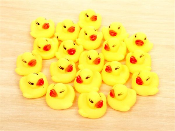 Bathing Duck Baby Bath Water Toy Children Infant Mini Floats Duck Games Rubber Race Squeaky Yellow Duck Fun Kids Infants Swim Bath Gifts