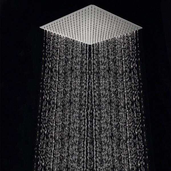 Spedizione gratuita 40 centimetri * 40 centimetri quadrato doccia a pioggia head.16 pollici in acciaio inox ultra-sottile soffitto pioggia doccia a pioggia testa.