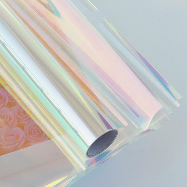 Requintado Rainbow Film Flower Bouquet Papel De Embrulho De Doces Bolo de Embalagem de Alimentos Presente Celofane Festival Artigos de Alta Qualidade 21ms WW