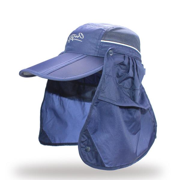 Brand Wide Brim Summer Sun Breathable UV Protection Visors Bucket Hat Sunscreen Fisherman Fishing Cap Detachable Foldable Cap