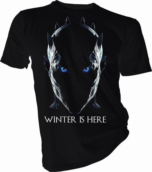Winter is Here Night King, Game of Thrones Adult & Kids T-Shirt Summer Short Sleeves Cotton T-Shirt top tee Interesting Pictures