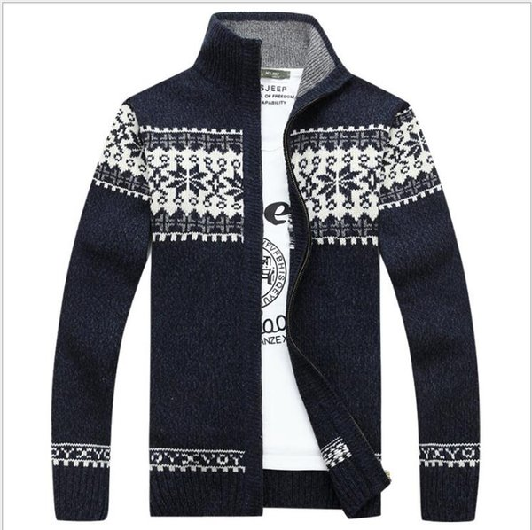 Fashion Brand Mens Sweater Cardigan 2018 Autumn Winter Slim Fit Jumpers Knitwear Warm Casual Clothing Male Coat