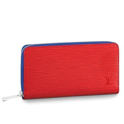 2019 M62304 Real Caviar ZIPPY WALLET red Water ripple Lambskin Chain Flap Bag LONG CHAIN WALLETS KEY CARD HOLDERS PURSE CLUTCHES EVENING