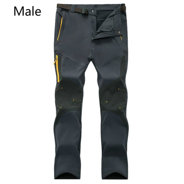 Winter outdoor assault pants men and women thickened warm soft shell grab flannelette pants lovers ski climbing