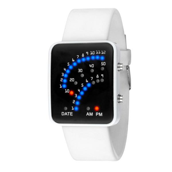 #5001Women мужские футуристический стиль многоцветный светодиодные спортивные наручные часы дропшиппинг новое прибытие Бесплатная доставка горячие продажи