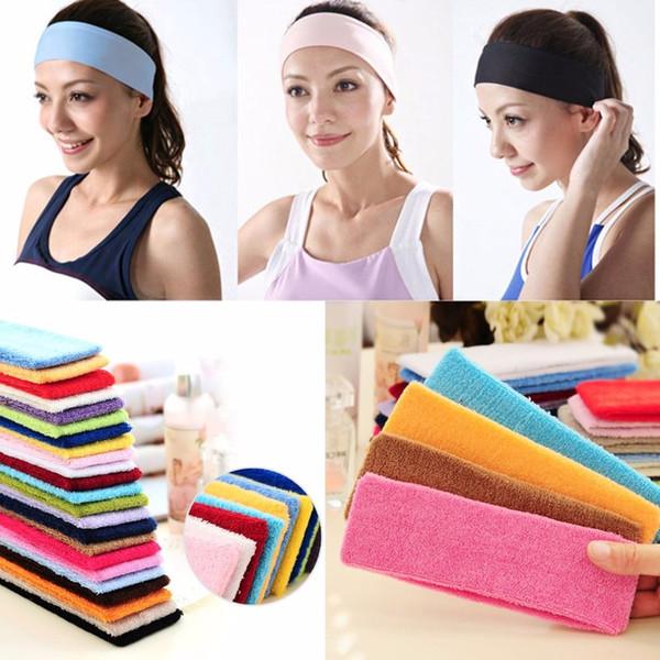 Gym Workout Women Yoga Soft Cotton Stretchy Headband Sweatband Sports Indoor Outdoor Fitness Headbands