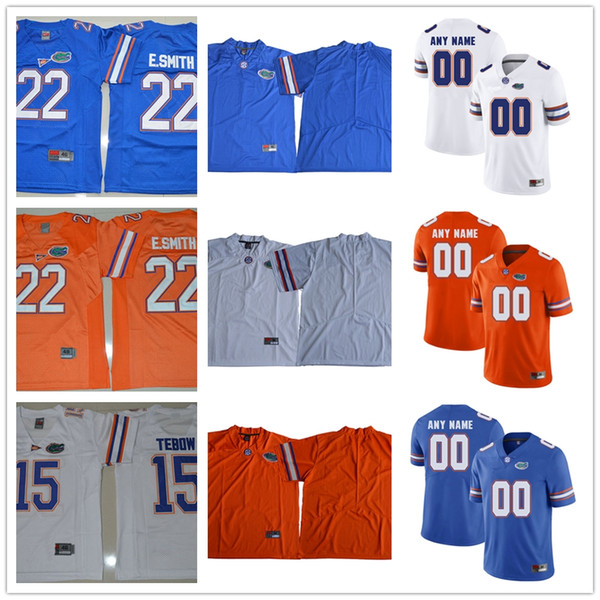 hot sale online ad981 cea68 2019 Florida Gators College Football 15 Tim Tebow Jersey #22 Emmitt Smith 6  Jeff Driskel 11 Kyle Trask 81 Aaron Sewing Blue White Orange Jerseys From  ...