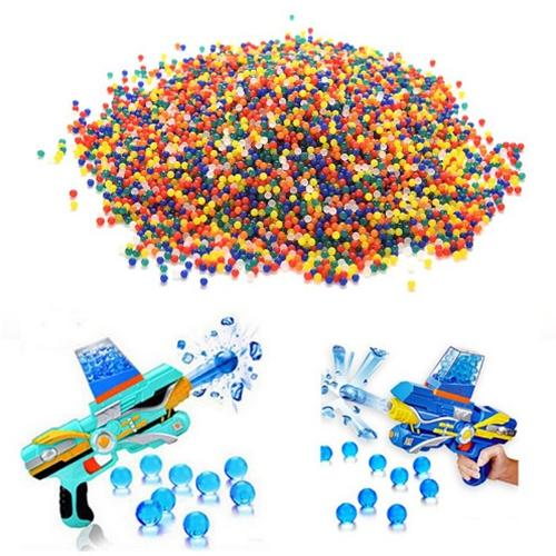 wholesale 1kg/lot 7-8mm Multicolour Crystal bullets Water Guns Pistol Toys Growing Crystal Water Balls Mini Round Soil Water Beads