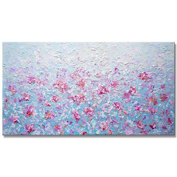 Tela pittura arti 100% handmade rosa moderna pittura floreale moderna spatola pittura per la decorazione domestica regalo