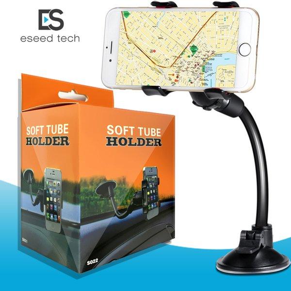 Per iPhone 6 / 6s Supporto a doppia clip per auto, facile da usare Universale Supporto a lunga distanza per braccio / girocollo a 360 ° per telefoni cellulari - Confezione da paracadute