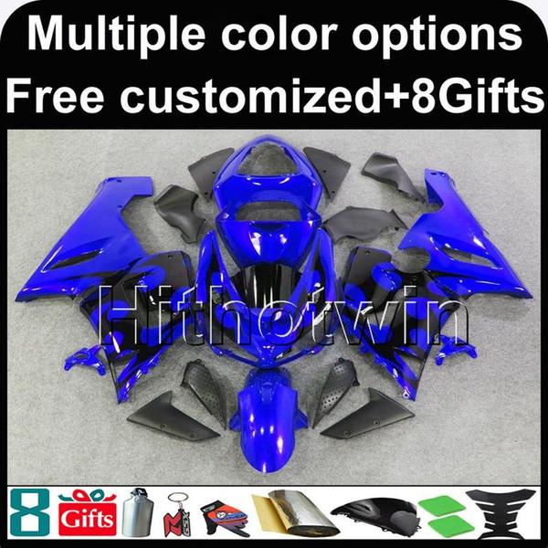 23 colori + carrozzeria blu 8Gifts carrozzeria blu per Kawasaki Ninja zx-6r 05 06 ZX 6R 636 ZX636 05-06 ZX6R kit in plastica ABS