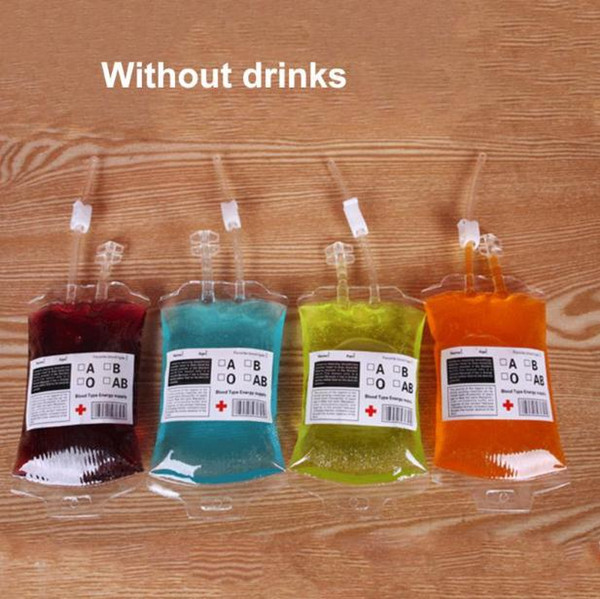 New Fashion Best Price Clear Food Grade PVC Material Reusable Blood Energy Drink Bag Halloween Pouch Props Vampire SN887
