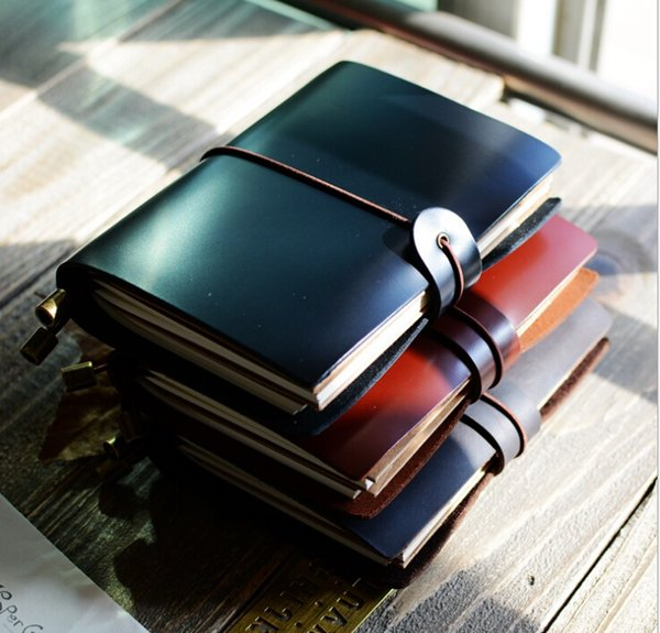 Notebook Notepads Leather Cover Kraft Paper Wholesale Notepad easy to carry Office Stationery School Supplies Travel Diary Creative Notepads