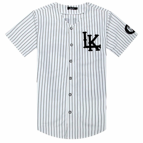 Man Si Tun 07 Last Kings Baseball Tshirt Tyga Jerseys Black White Unsex Men Women Hip Hop Style Tees Tops Rap