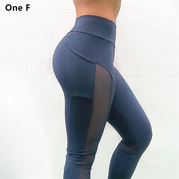 Women's High Waist Yoga Pants With Side Pocket Solid Mesh Sport Leggings Push Up Booty Fitness Clothing Sleek Aspire Legging