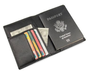 new Passport Wallet Cover Original Leather Wallet Travel Passport Wallet Multi-function Business Card Holder Passport Case