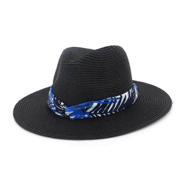 Fashion Women Straw Sun Hat Female Jazz Hat Spring Summer Straw Sun Protection Girl Travel Beach Cap Bohemia Visor WH699