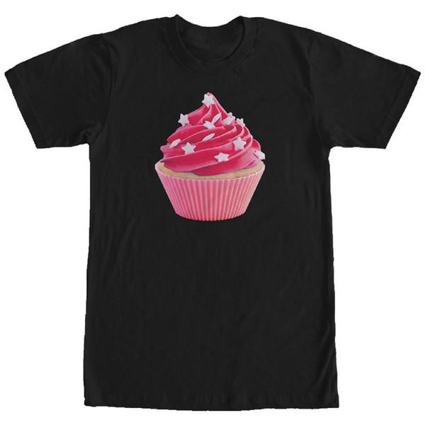 Lost Gods Star Sprinkle Cupcake Mens Graphic T Shirt Mens 2018 fashion Brand T Shirt O-Neck 100%cotton T-Shirt Tops Tee
