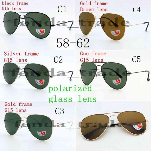 Glass Polarized HOT SALE summer luxury GOGGLE man UV400 protection Glass Sun glasses Fashion men women Sunglasses unisex Pilot glass
