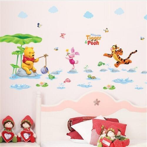 Free shipping Cartoon Children Room Trees And Bear Pattern Wall Stickers Height Measure For Kids Room Children Nursery Wall Decals Home Deco
