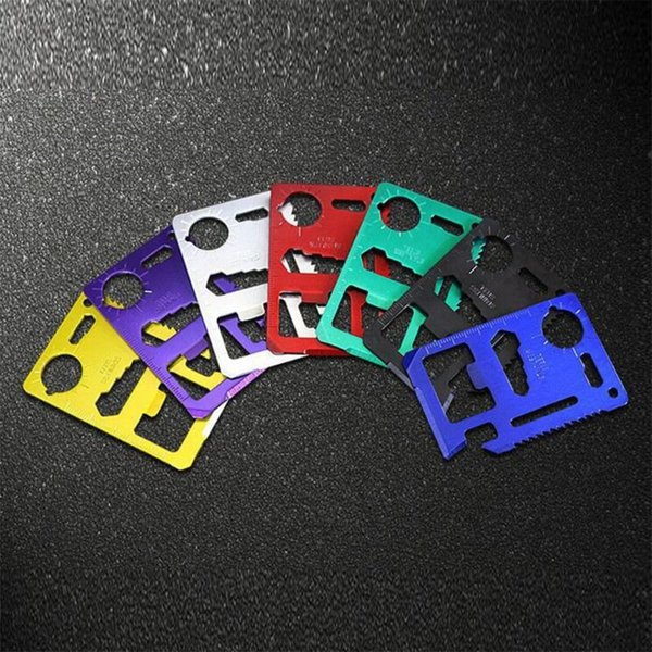 7 Farben Multi-tools 11 in 1 Multifunktions Outdoor Jagd Überleben Camping Tasche Military Kreditkarte Messer